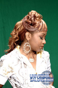 Updo with a Long Curly Ponytail from Brione Bullock