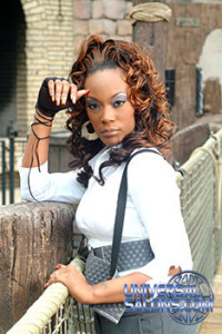 Long Curly Hairstyle with Hair Color from Marcus Doss