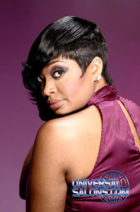 """Tiffany Cunningham""""s Asymmetrical Bob Haircut with a Side Swept Bang Hairstyle"""