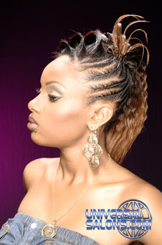 Ponytail with Crimps and Hair Extensions from Nikki Glasgow