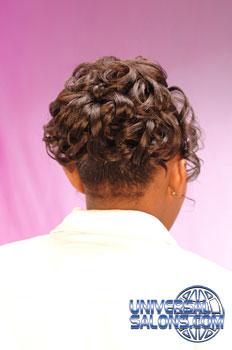 Back View: Curled Updo Black Hairstyles for Little Girls