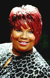 Short Hairstyle with Red Color from Pamela Holt Blackstock
