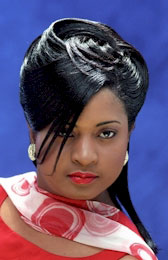 Updo Hairstyle with Ridges from Pamala Harvin