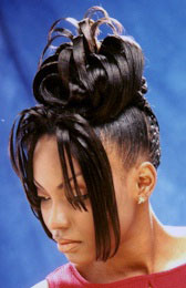 Updo Hairstyle with Twist from Christie Harrison