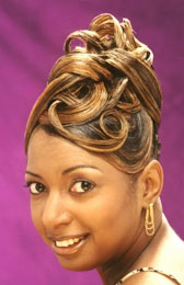 Elegant Updo with Color from Velma Wooten