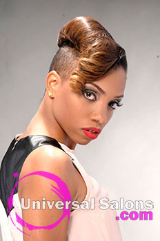 "Lacey Singleton's ""Fire & Desire"" Short and Hairstyle with Color"