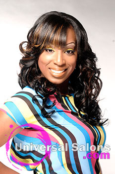 """LaQuan Fields' """"Seduction Curls"""" Long Hairstyle with Hair Color and Curls"""