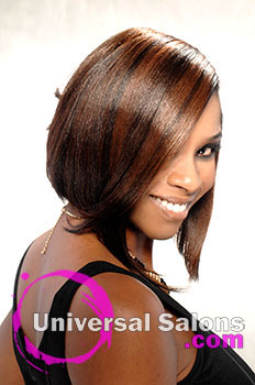 Short Hairstyle with Hair Color from Kenyetta Ross