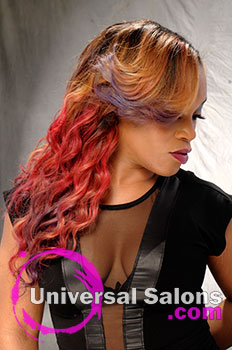 """Leslie Boykin's """"The Love of Color"""" Long Hairstyle with Round Curls"""