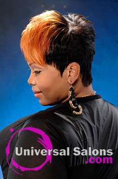 "Fredricka Taylor's ""Fierce"" Short Sassy Hairstyle with Hair Color"
