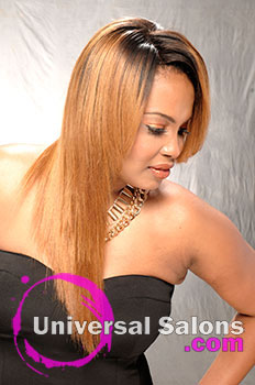 Denise Granberry's Lace Hairstyle with Extensions and Ombre Color