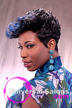 "Natasha Johnson's ""Blue Indigo"" Short Hairstyle"