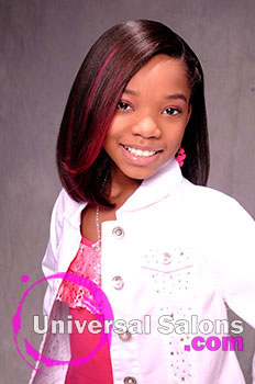 "A Young Girl's ""Pretty in Pink"" Spunky Hairstyle from Shakia Allen"