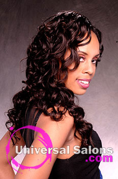 Long Curly Hairstyle with Extensions from Tenika Brantley