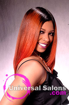 "Dre' Ramseur Blanton's Long ""Autumn Sunrise"" Hairstyle with Color"