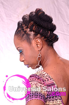 Natural Hair and Locs with Hair Color from Nacole Brown