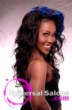 Shauna Robinson's Long Blue Moon Curly Hairstyle