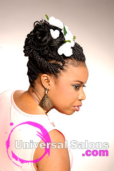 Nikia Gorham's Naturalistic Wedding Braids Updo