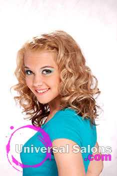 Blond Barbie Medium Hairstyle with Curls and a Braid from Brittney Branch