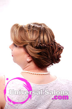 Kelly Hirsch's Beautiful Wedding in the Garden Bridal Updo Hairstyle with Braids