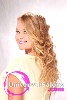 Haley Qubti's Beach Bombshell Long Curly Hairstyle