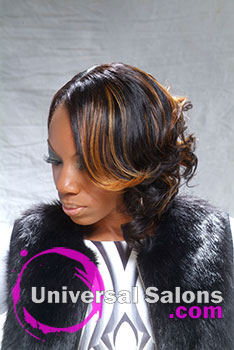 Curly Bob Hairstyle with Highlights from Timicka Washington