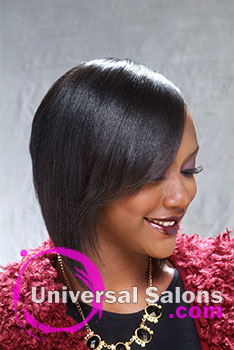 Beautiful Short Bob Hairstyle Using the Model's Natural Hair