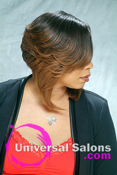 Bombastic Bob Quick Weave Black Hairstyle by Amber McClain