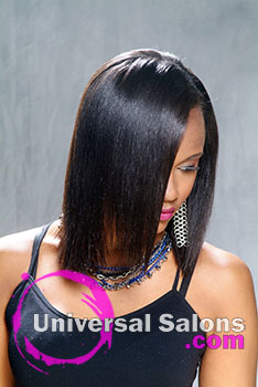 Long Natural Black Hairstyle with Hair Color from Deirdre Clay