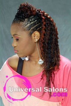 Long Mohawk Black Hairstyle from Pamela Webster