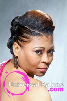 Mohawk Updo Black Hairstyle with Twist on the Side from Aniya Oden