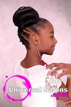Chidren's Updo Hairstyle with Twisties