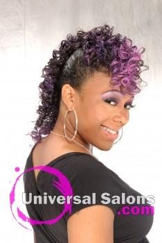 "Apryl Mcabee's ""Purple Hawk"" Mohawk Updo Hairstyle"
