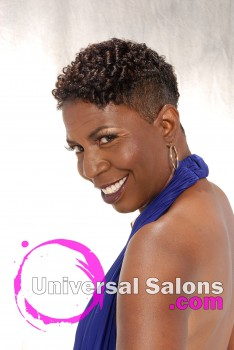 Ebony Curtis' Short Mohawk Hairstyle