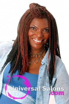 """Twist Me Up"" Braids Hairstyle from Jackie Evans"