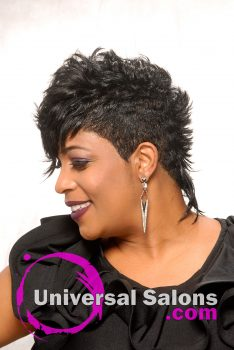 Modern Messy Mohawk Hairstyle from Katrice Thompkins