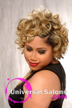 "'Blond Ambition"" Short, Curly Hairstyle for Black Women"