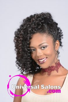 Curly Black Hairstyle with Twists from Kenya Young
