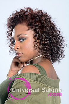 Curly Hairstyle with Hair Color from Kenya Young