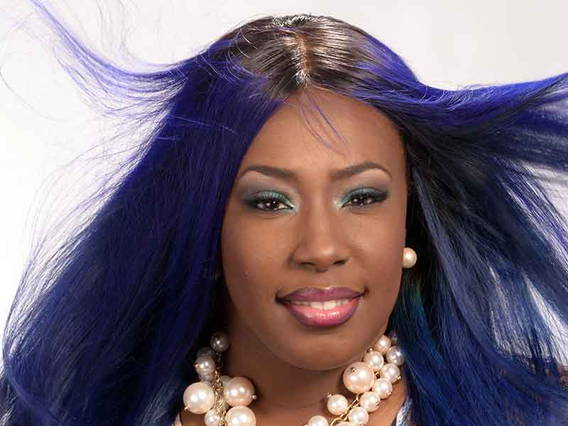 Royal Blue Hairstyle for Women by Celestine Lee Rutherford