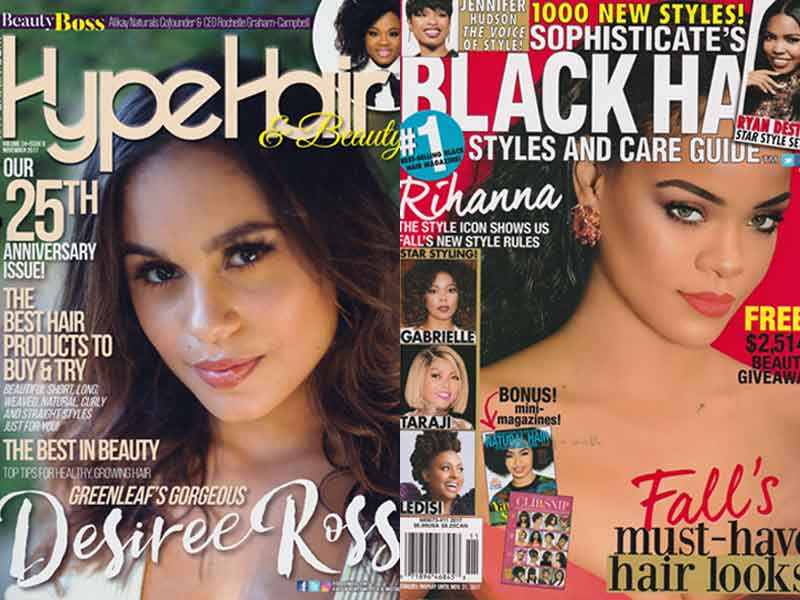 Hype Hair and Black Hair Sophisticate Magazines