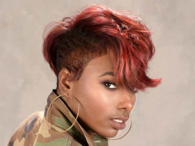 Short Hairstyle for Black Women with Color