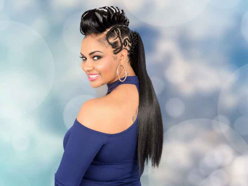 Long Ponytail with Gaator Braids for black women