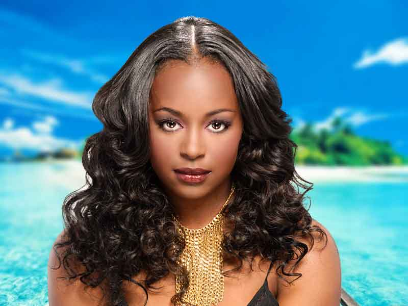 Long, Full-Bodied, Sew-In Weave Hairstyle from Denise Granberry