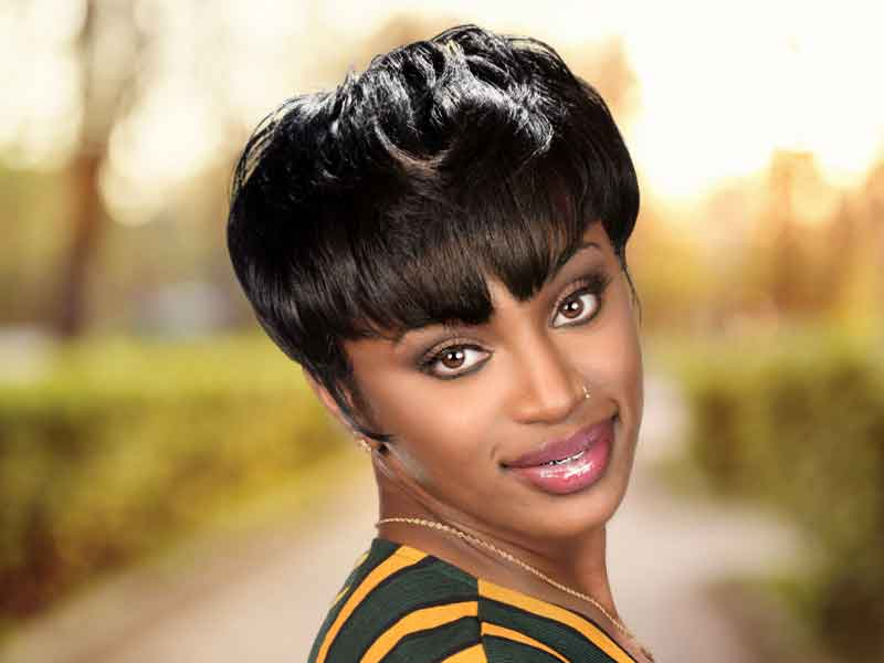 Natural Hairstyle for Short Hair from Tameka Adams