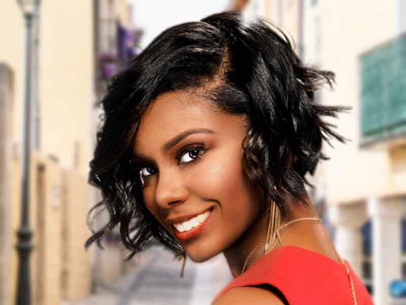 Harvest Glow Short Bob Hairstyle for Black Women from Ashley Coutain