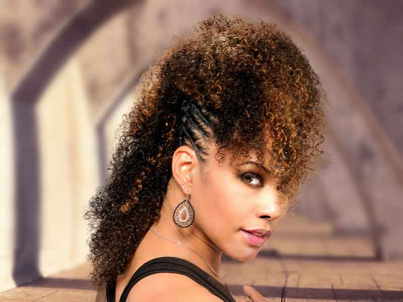 Highlighted Twisted Fohawk Hairstyle from Talia Brown Williams