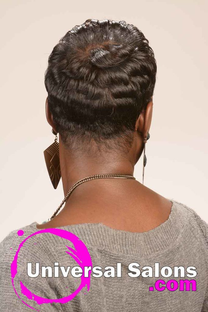 Back: Short Curly Hairstyle for Black Women