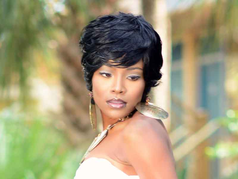 Short Hairstyle with Layers for Black Women