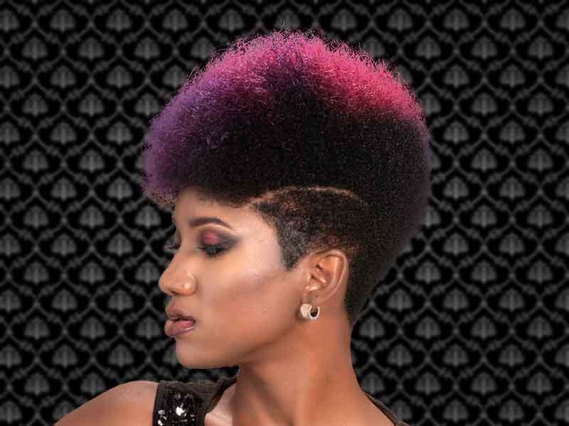Rainbow Hair Color Afro